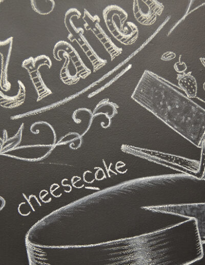 Chalk board, cheesecake resized