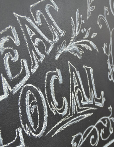 Chalk board, eat local resized