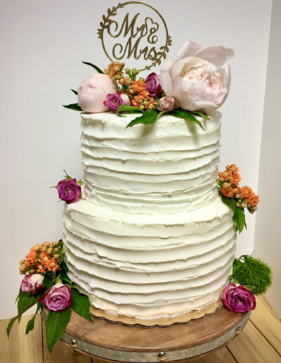 Full color straight on tiered cake
